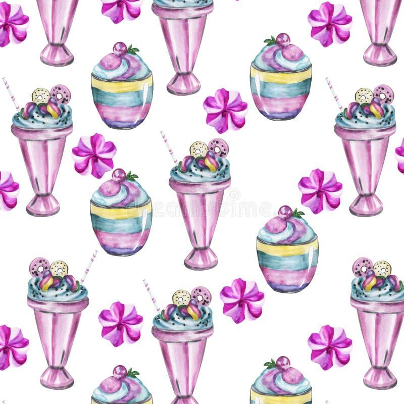 Watercolor handwork seamless pattern royalty free illustration