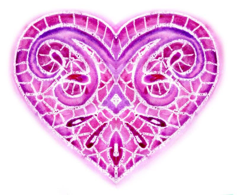Download Watercolor heart stock illustration. Illustration of elegance - 23026657