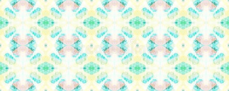African Seamless Pattern. Watercolor Horizontal Vibrant Design. Africa Geometric Swimwear Pattern. Chevron Folk Texture. Rainbow Ethnic Symmetric Triangles vector illustration