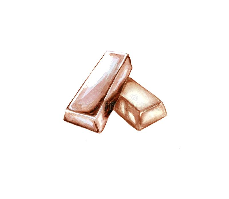 Illustration of rose gold bars vector illustration