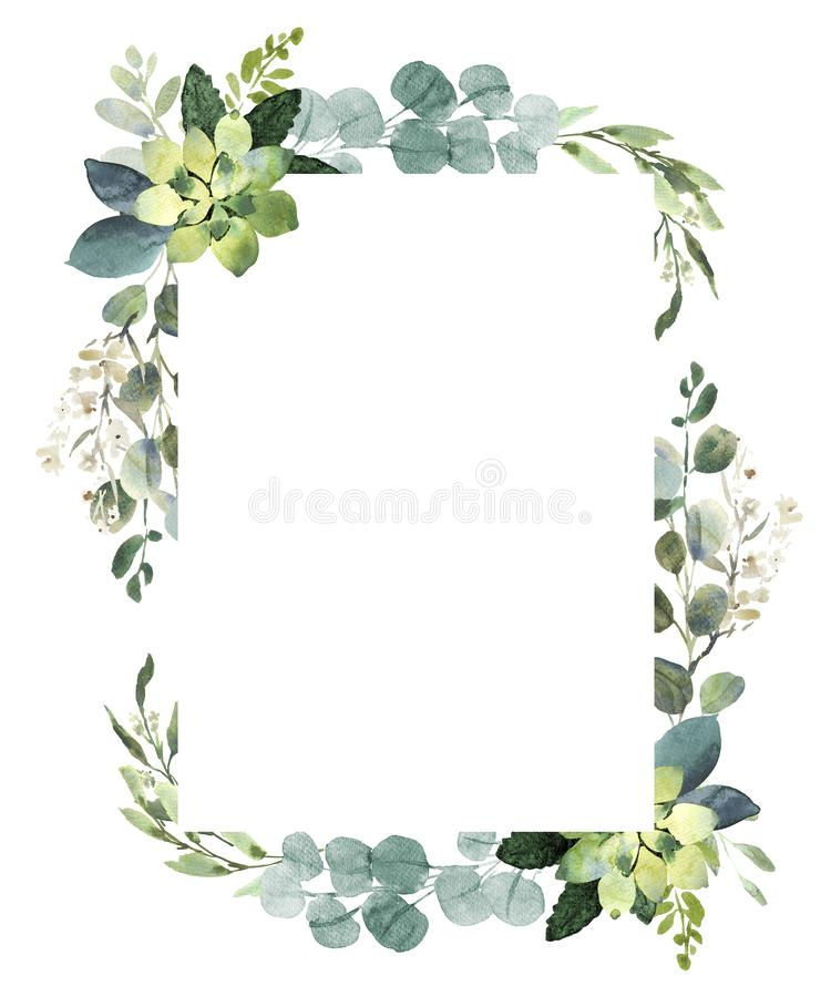 Free Watercolor Illustration With Eucalyptus. Royalty Free Stock Photography - 131378977