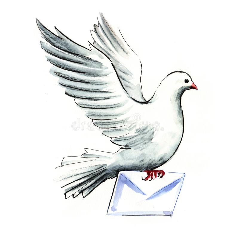 Dove mail royalty free illustration