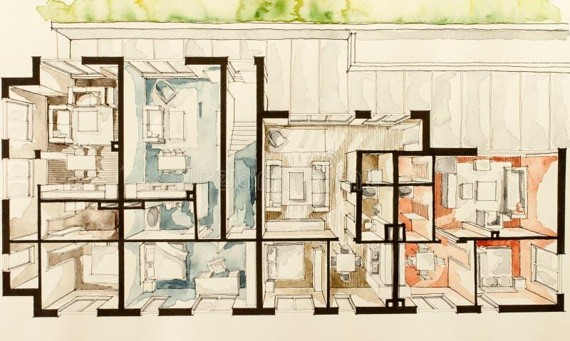 Download 3D Sketch Of Home Design Stock Illustration   Image: 57372414