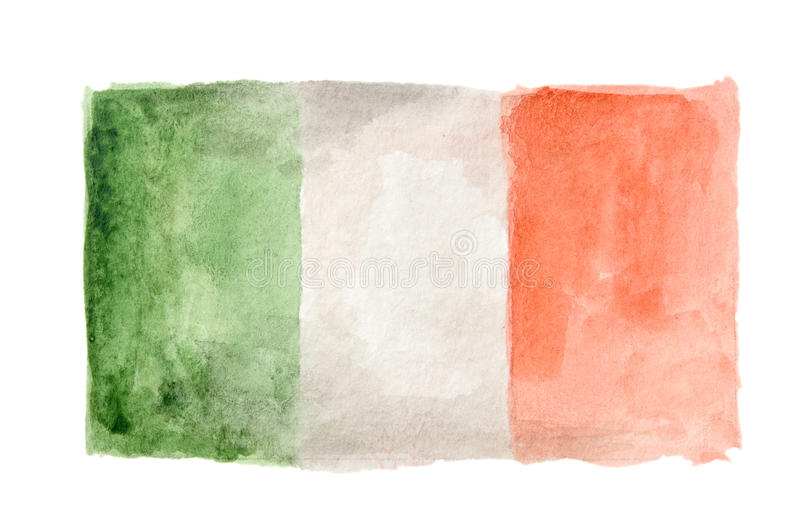 Watercolor isolated flag. stock images