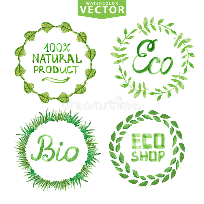 Labels nature Royalty Free Vector Image - VectorStock