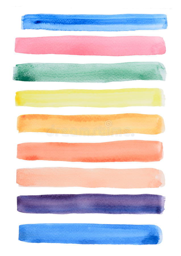 Watercolor line draw. Isolated on white background stock illustration