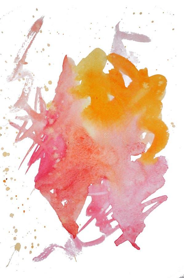 Watercolor mark royalty free stock image