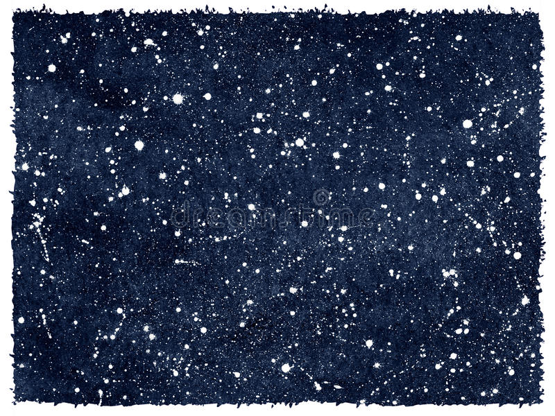 Watercolor night sky with stars and rough edges royalty free illustration
