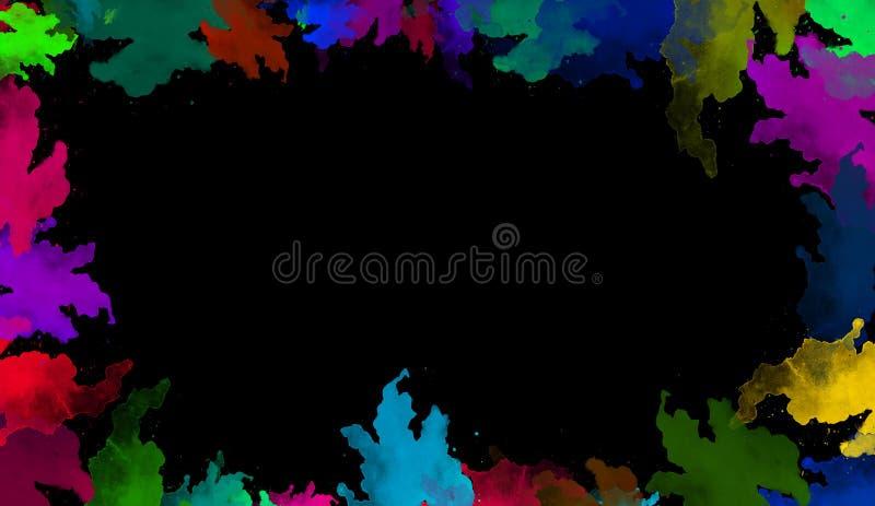 Colorful watercolor texture. Contemporary art. Wet splash. stock illustration