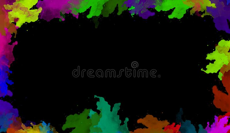 Colorful watercolor texture. Contemporary art. Wet splash. vector illustration