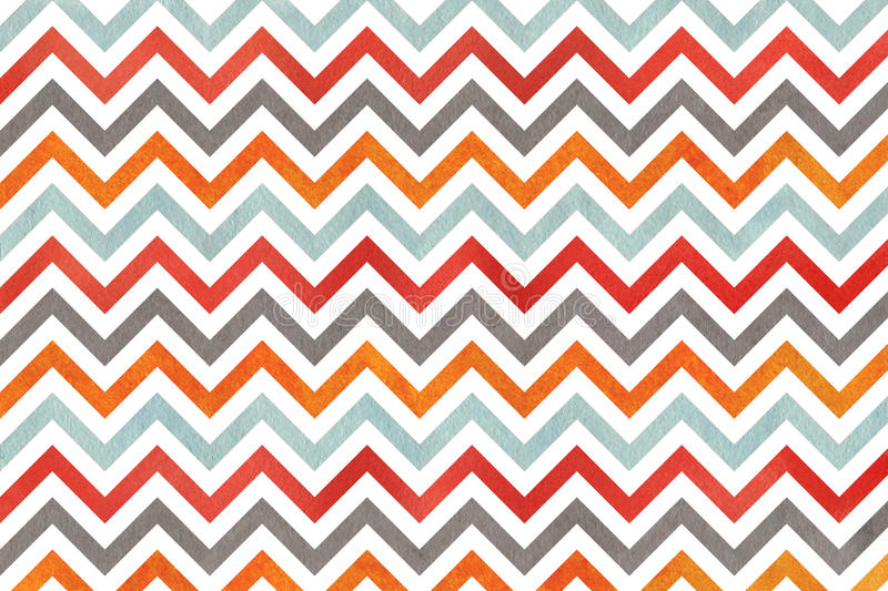 Watercolor Orange Blue Red And Grey Stripes Background