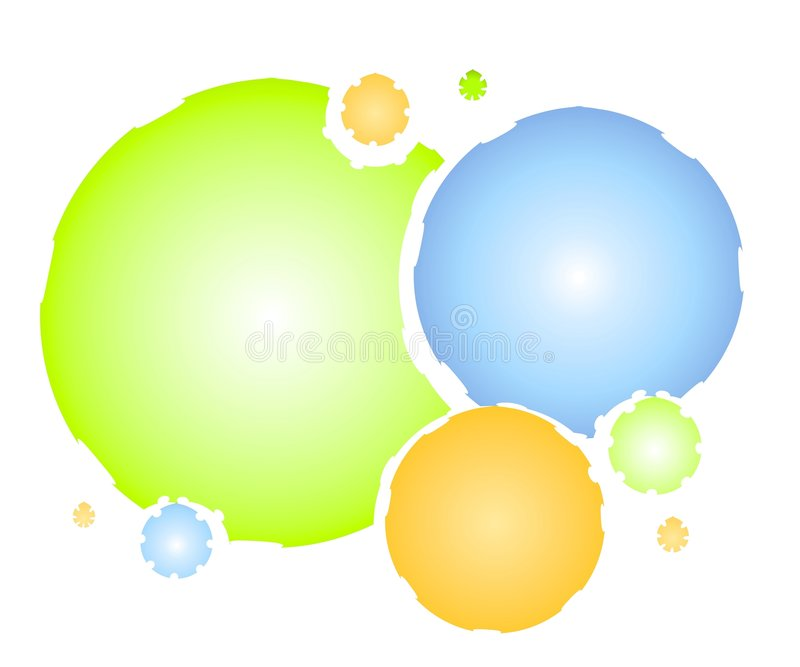 Watercolor Overlapping Circles royalty free illustration