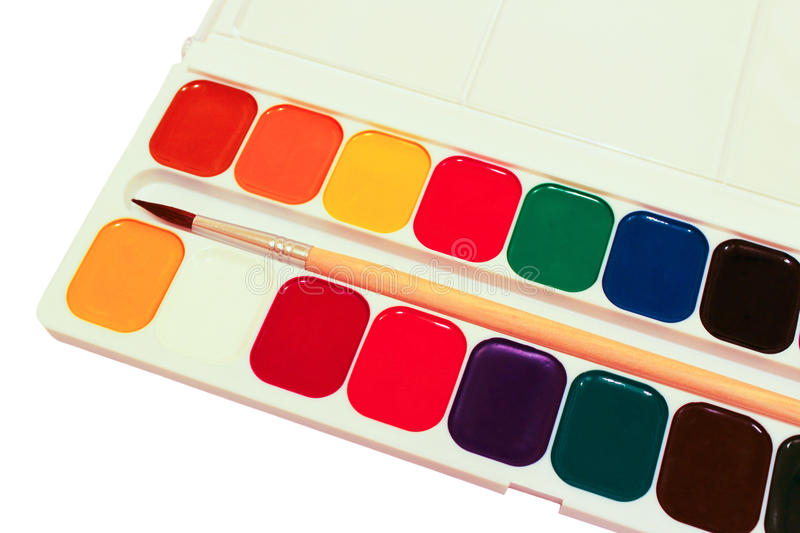 Download Watercolor paint stock image. Image of paper, learn, drawing - 33697967
