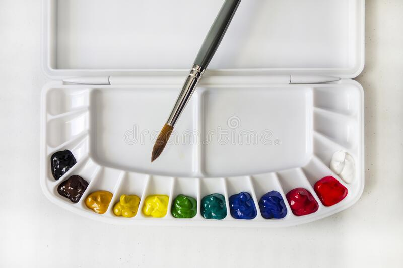Watercolor Paint Palette royalty free stock images