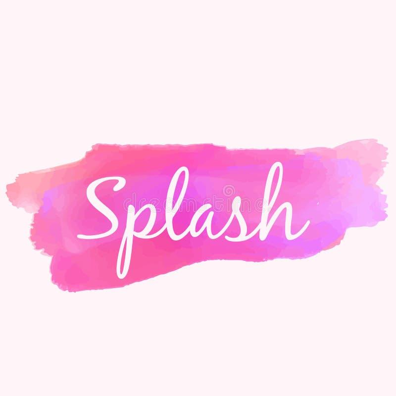 Watercolor paint splash in pink color vector design illustration. Watercolor paint splash in pink color vector illustration stock illustration