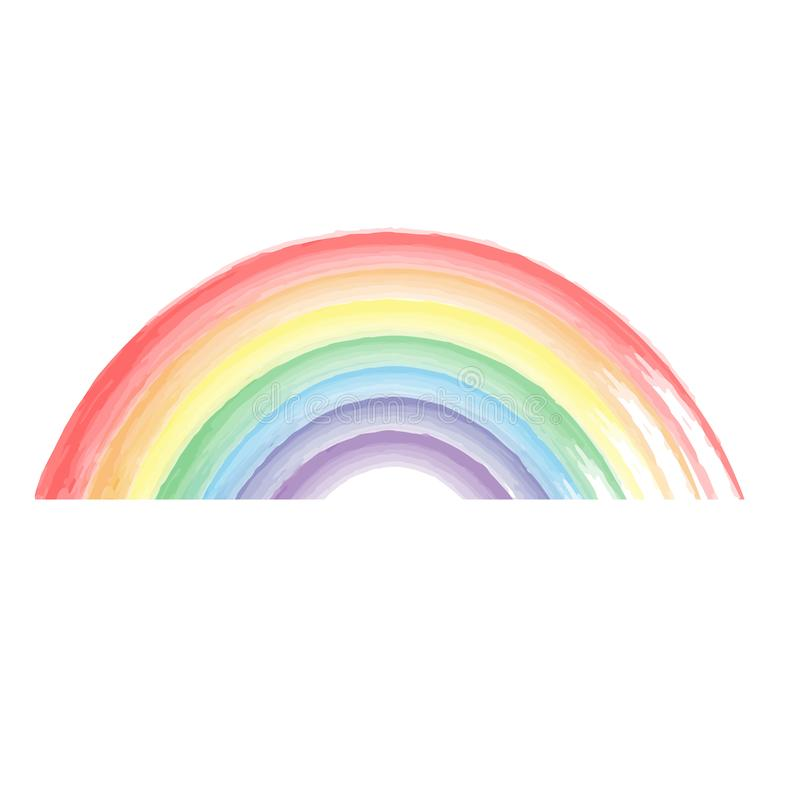 Watercolor painted rainbow. vector format illustration stock photography