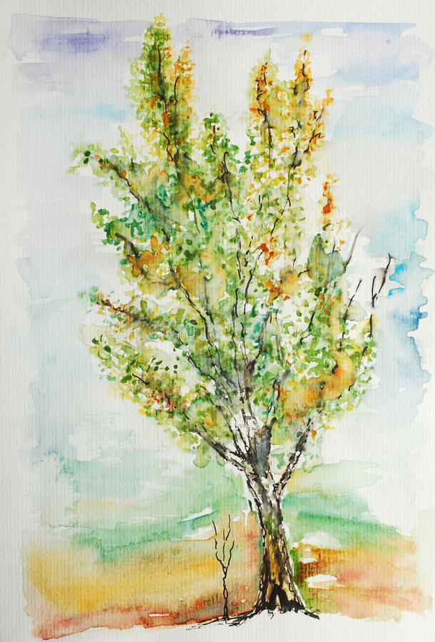 Watercolor painting royalty free illustration