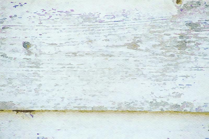 Watercolor painting grunge holiday background of old wooden planks stock photos