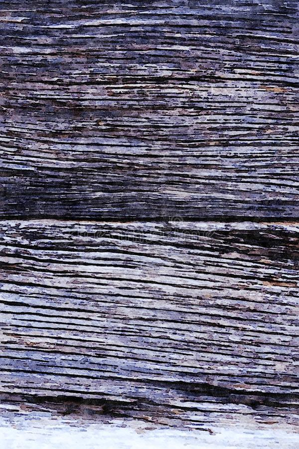 Watercolor painting grunge holiday background of old wooden planks royalty free stock photos