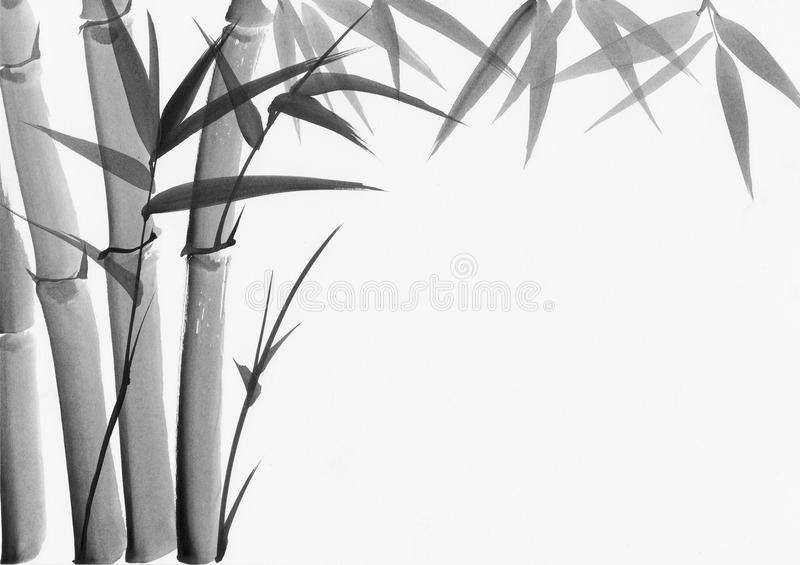 Download Watercolor Painting Of Bamboo Stock Illustration - Image: 25730537