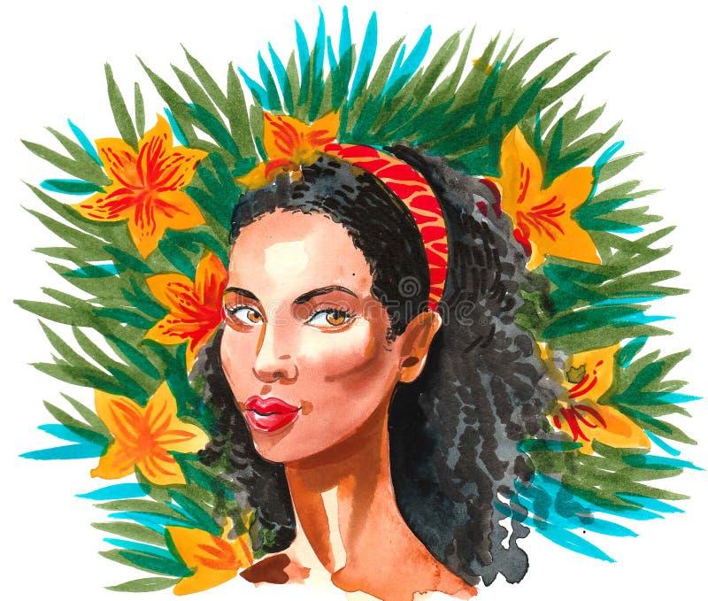 Black beauty stock illustration