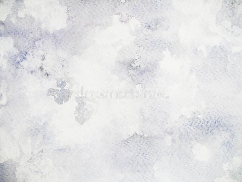 Watercolor painting black white texture background illustration. Hand drawn vector illustration