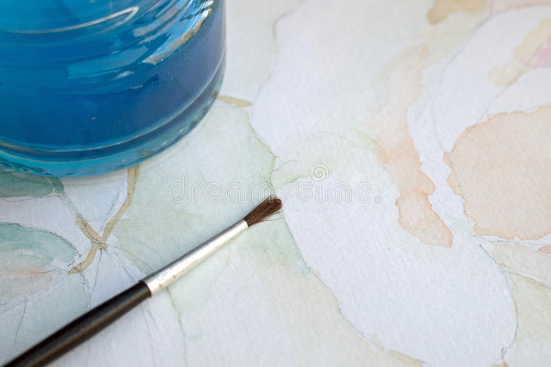 Watercolor painting stock photography