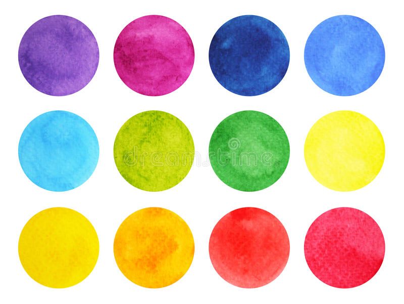 Watercolor painting colorful pattern design, hand drawn royalty free illustration