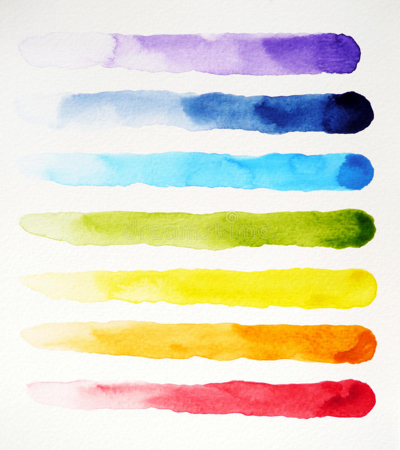 Watercolor painting colorful pattern design, hand drawn illustration stock illustration