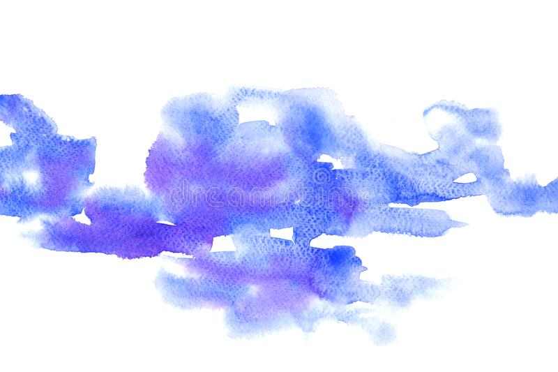 Watercolor painting colorful splashing on white paper texture. royalty free illustration