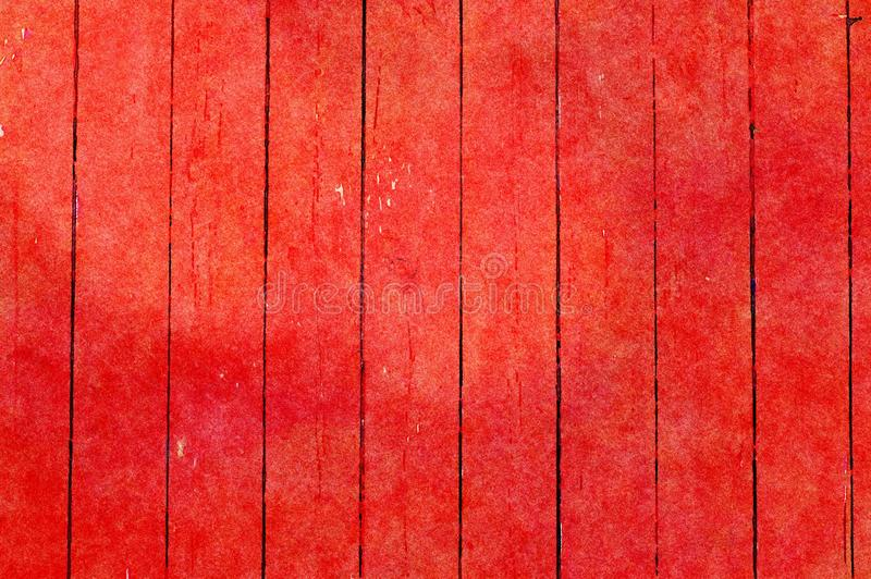 Watercolor painting grunge holiday background of old wooden planks stock photo