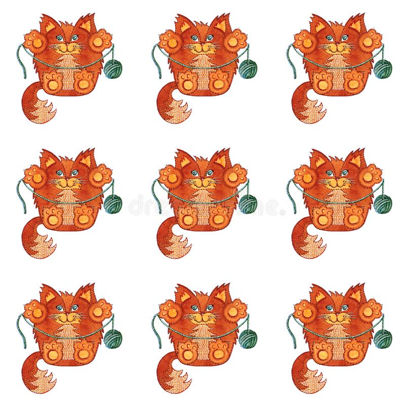 RED CATS stock illustration