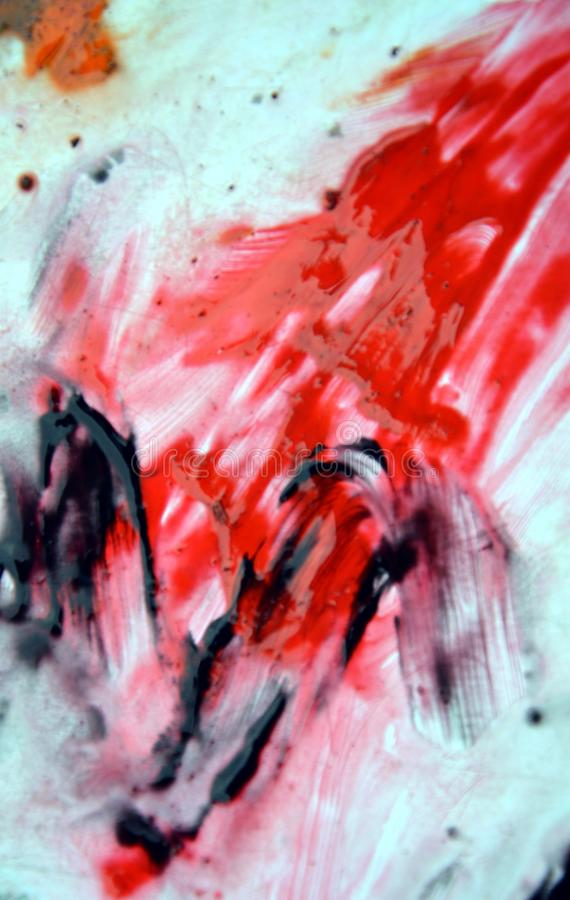 Red dark spots, painting watercolor background, painting abstract colors royalty free stock photos