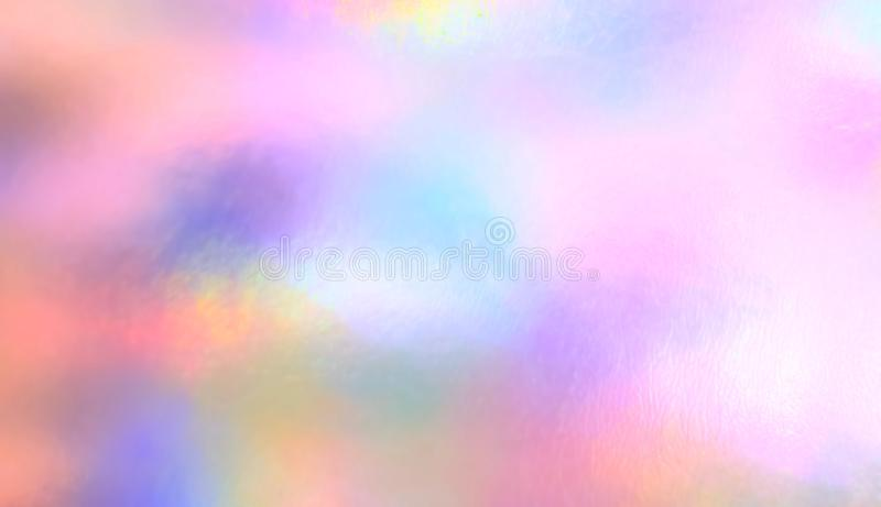 Watercolor pastel colorful rainbow painting royalty free stock image