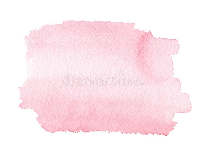 Watercolor pastel handmade texture in pink color. stock illustration