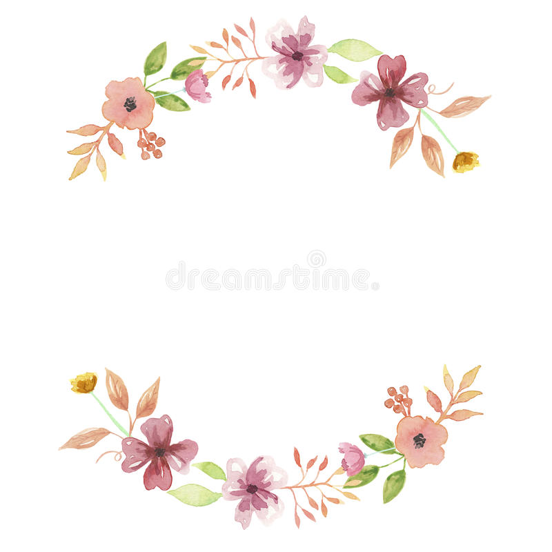 watercolor peach summer wreath arch mustard garland wedding leaves rh dreamstime com Garland Clip Art Wedding Wedding Ring Clip Art