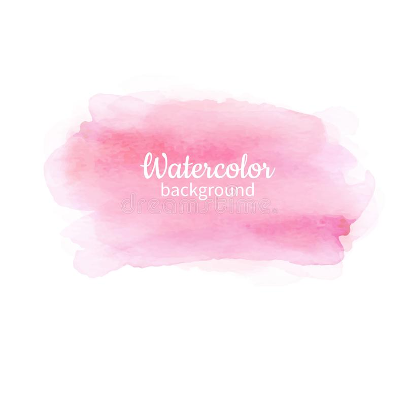 Free Watercolor Pink Abstract Hand Painted Background. Watercolor Vec Royalty Free Stock Photos - 106493998