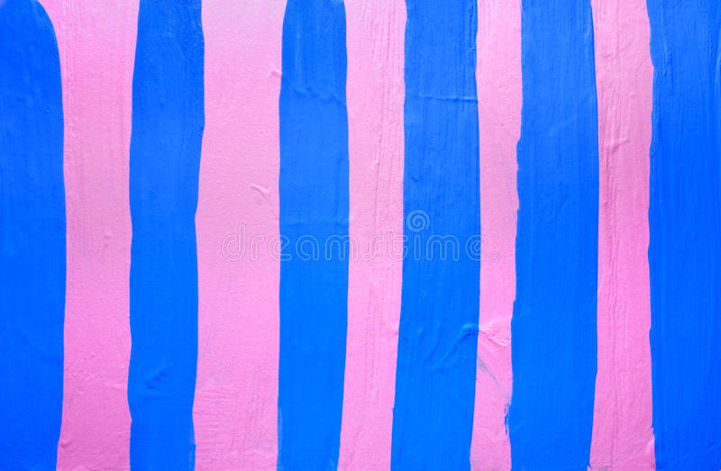 Watercolor pink background with blue stripes royalty free stock photography