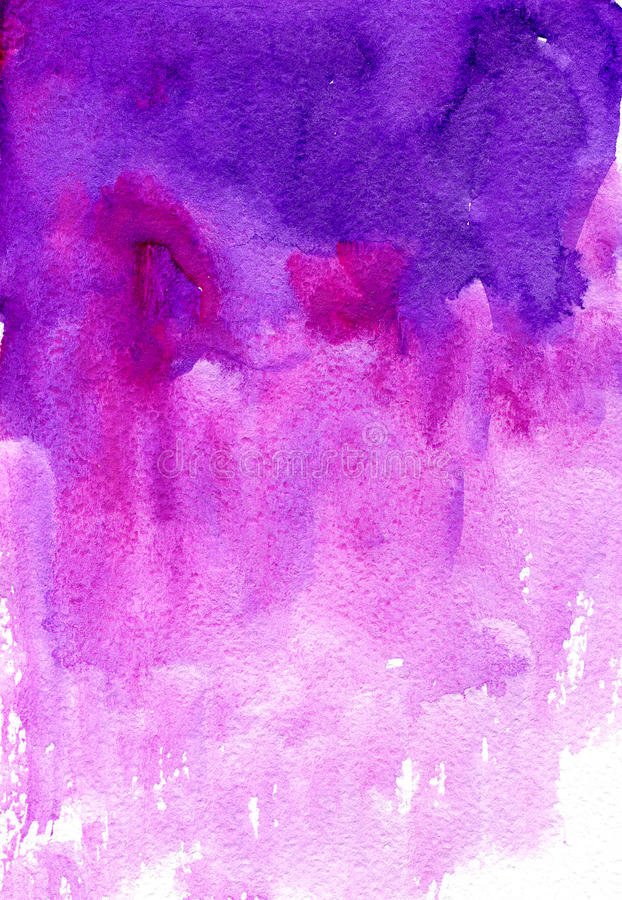 Watercolor pink background. Watercolor pink and purple colorful fantasy background. Hand drawn watercolor. Background for letters, invitations royalty free stock photography