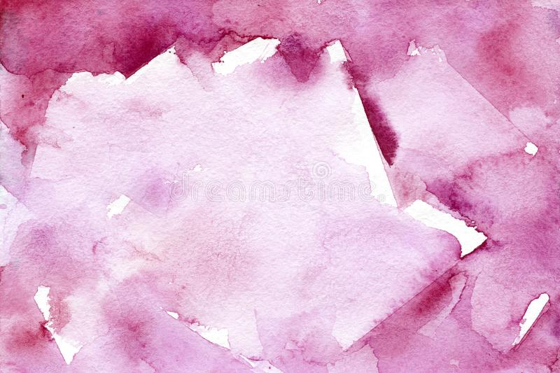 Watercolor pink blurred background with natural paper texture royalty free stock photo