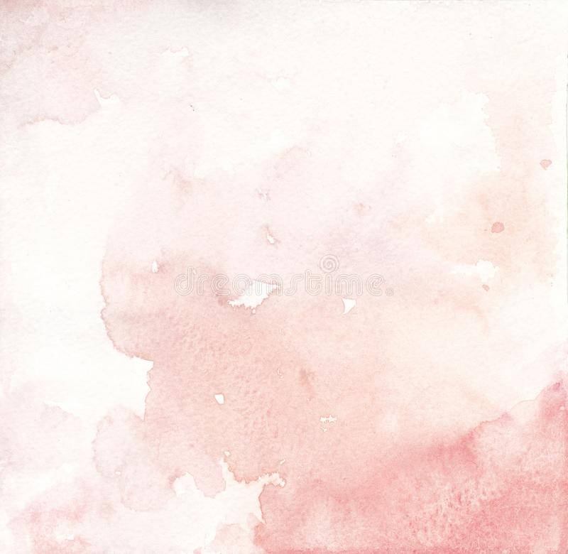 Watercolor pink salmon and coral background texture vector illustration