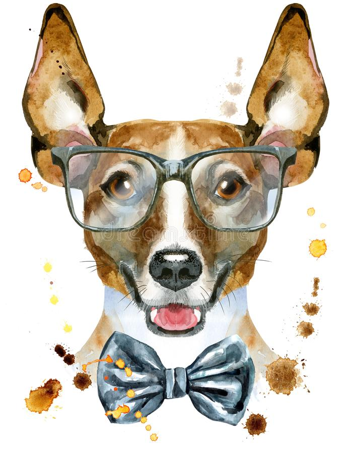 Wonderful Terrier Bow Adorable Dog - watercolor-portrait-jack-russell-terrier-bow-tie-glasses-cute-dog-t-shirt-graphics-illustration-104168279  Graphic_496248  .jpg