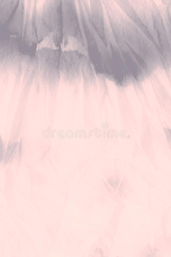 Watercolor Print. Pale Grungy Paint. Coral stock images