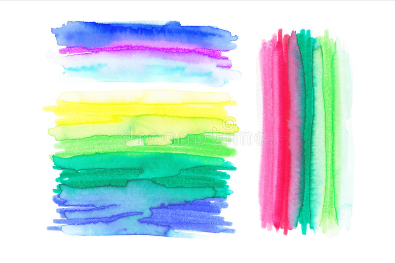 Watercolor Rainbow Backgrounds. Ombre Watercolor Backgrounds. stock illustration