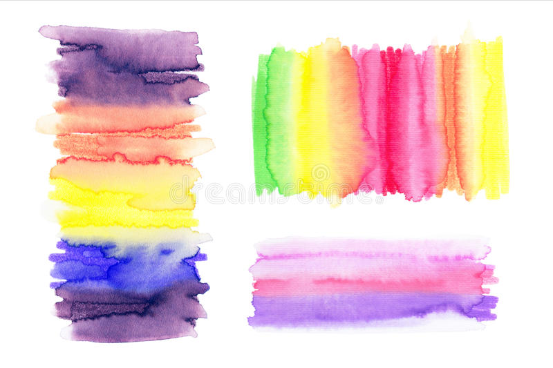 Watercolor Rainbow Backgrounds. Ombre Watercolor Backgrounds. vector illustration