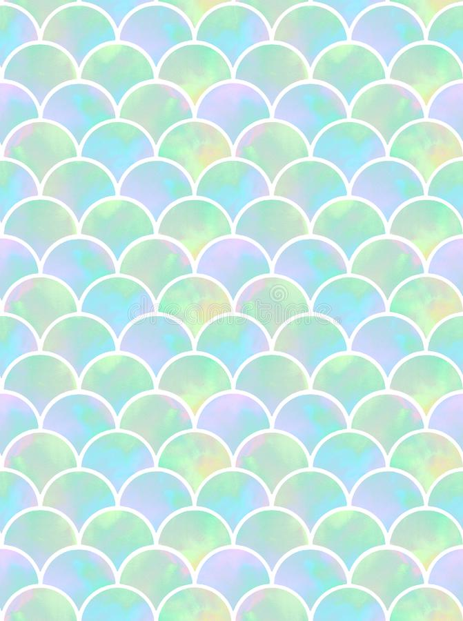 Scales of mermaid seamless pattern royalty free illustration