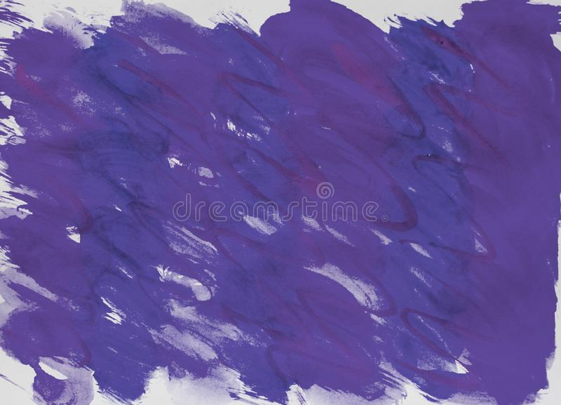 Watercolor raster dark modern gradient background blue, purple, lilac with streaked smooth lines for layout and cover design. Illustration abstraction bright stock image