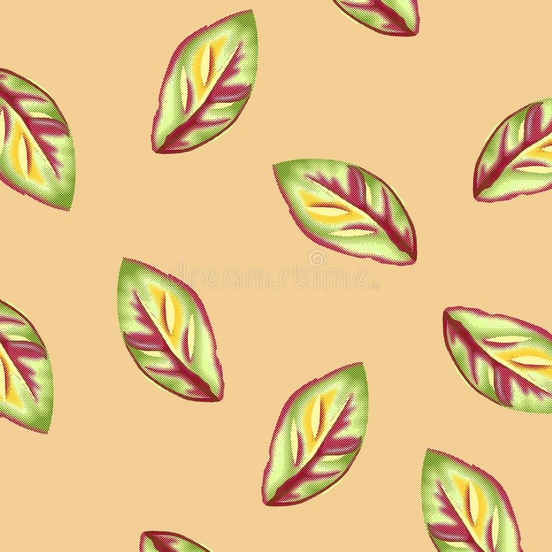 Watercolor Rasterize Flower Pattern on crime vector illustration