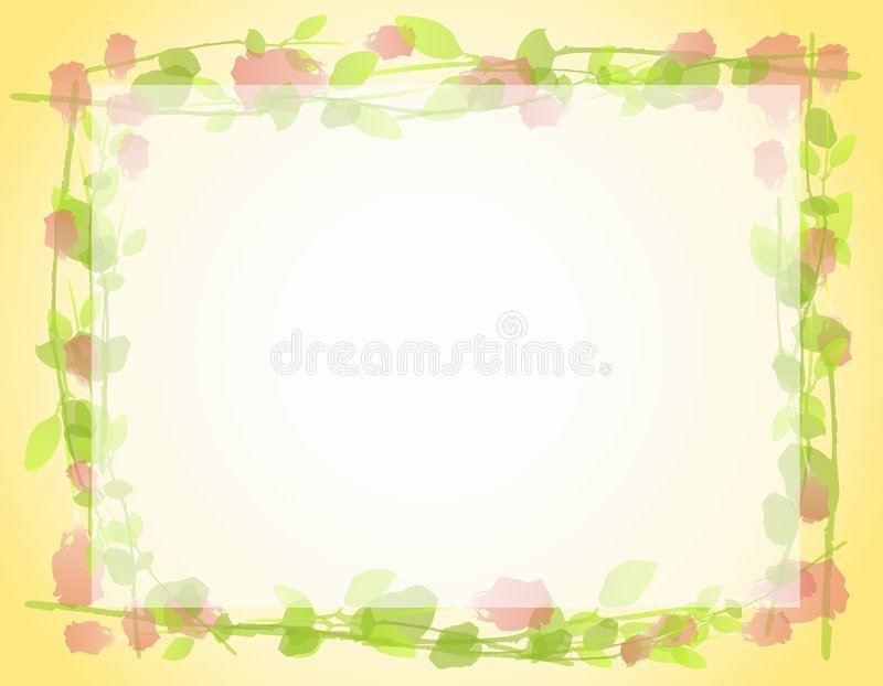 Download Watercolor Roses Frame Border 2 Royalty Free Stock Photo - Image: 4389675