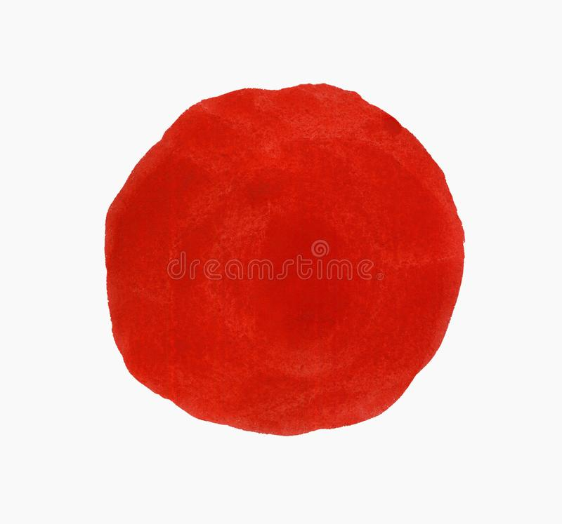 Watercolor round painted cloud spot isolated on white background vector illustration